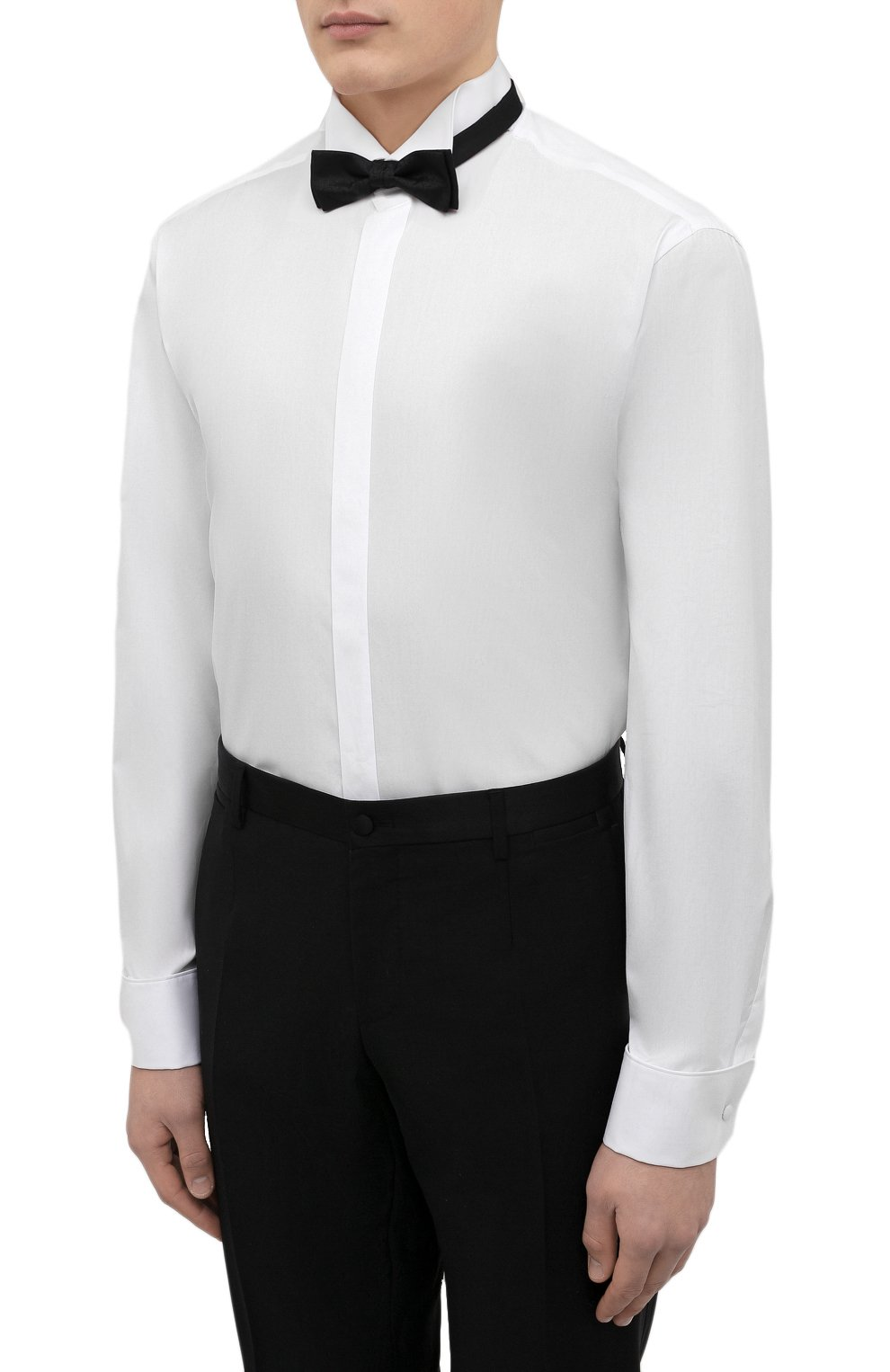 Мужская хлопковая сорочка VAN LAACK белого цвета, арт. GALA-DTF/130648 | Фото 4 (Рукава: Длинные; Длина (для топов): Стандартные; Материал внешний: Хлопок; Воротник: Бабочка; Статус проверки: Проверено)
