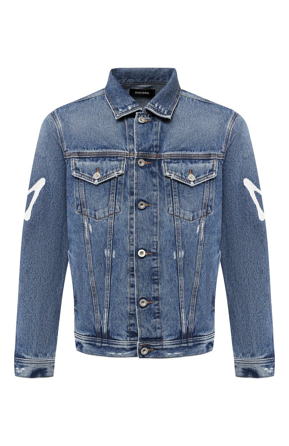 Джинсовая куртка с принтом   Фото №1