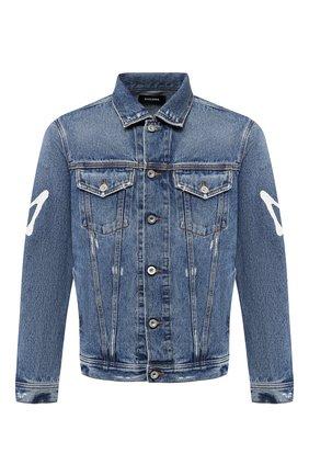 Джинсовая куртка с принтом Diesel синяя   Фото №1