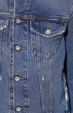 Джинсовая куртка с принтом Diesel синяя   Фото №5