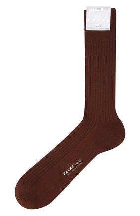 Мужские хлопковые носки FALKE коричневого цвета, арт. 14669 | Фото 1