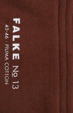Мужские хлопковые носки FALKE коричневого цвета, арт. 14669 | Фото 2