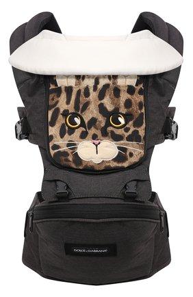 Детская рюкзак для переноски детей DOLCE & GABBANA коричневого цвета, арт. LCJA07/G7QTX | Фото 2