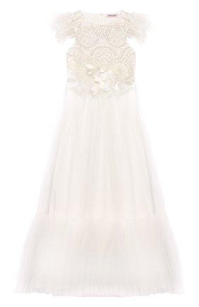 Платье-макси с вышивкой бисером | Фото №1