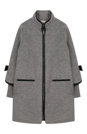 Пальто на молнии с воротником-стойкой | Фото №1