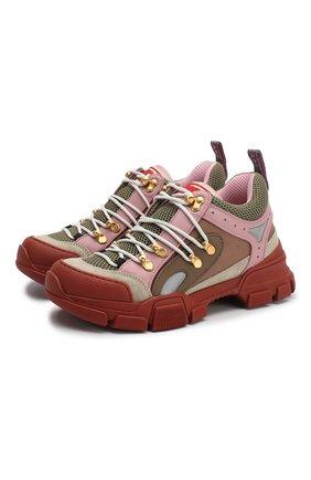 Комбинированные кроссовки Flashtrek на шнуровке | Фото №1