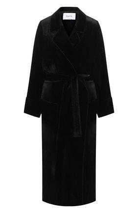 Однотонное пальто с поясом | Фото №1