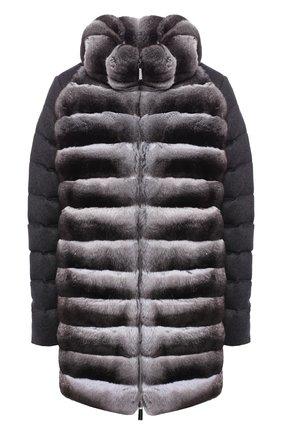 Утепленная куртка с меховой отделкой | Фото №1