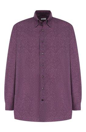 Мужская хлопковая рубашка с воротником кент ZILLI бордового цвета, арт. MFQ-01301-84001/RE01 | Фото 1