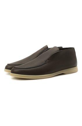 Мужские кожаные ботинки open walk LORO PIANA коричневого цвета, арт. FAI3276 | Фото 1