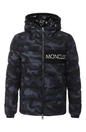 Мужская пуховая куртка aiton на молнии с капюшоном MONCLER темно-серого цвета, арт. D2-091-41884-05-549X4 | Фото 1