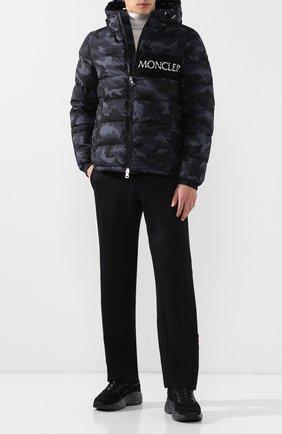 Мужская пуховая куртка aiton на молнии с капюшоном MONCLER темно-серого цвета, арт. D2-091-41884-05-549X4 | Фото 2