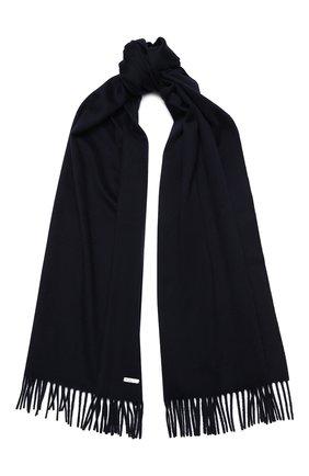 Мужской шерстяной шарф с бахромой LORO PIANA темно-синего цвета, арт. FAA2448/VVIC | Фото 1