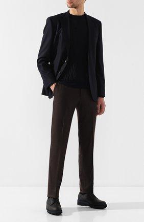 Мужской кожаные дерби на шнуровке ZILLI черного цвета, арт. MDQ-B029/002 | Фото 2