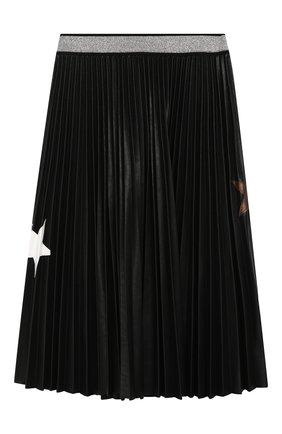 Плиссированная юбка с аппликациями | Фото №1