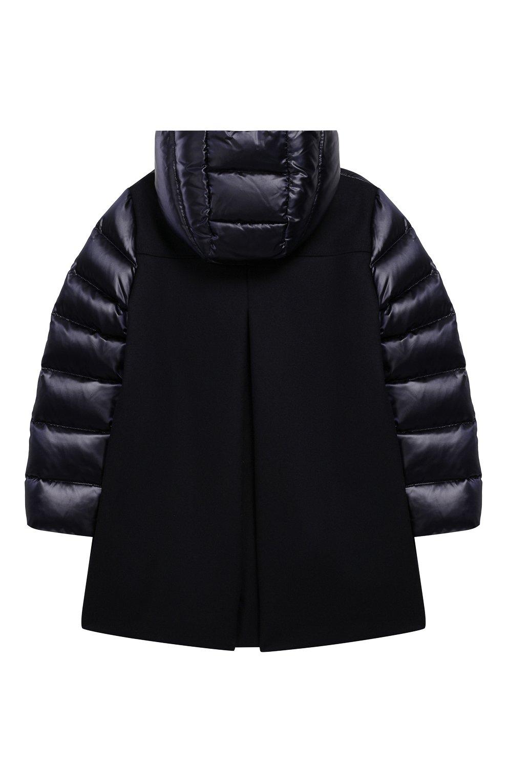 Комбинированное пальто с капюшоном | Фото №2