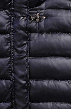 Комбинированное пальто с капюшоном | Фото №3
