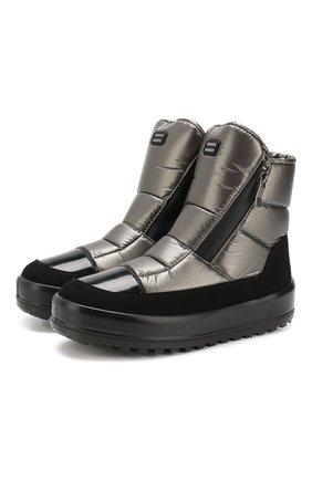 Утепленные высокие ботинки на молнии | Фото №1