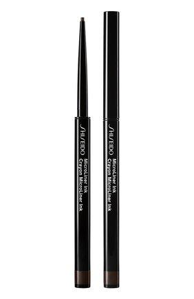 Женские тонкая подводка-карандаш для глаз microliner ink, 02 brown SHISEIDO бесцветного цвета, арт. 14734SH | Фото 1