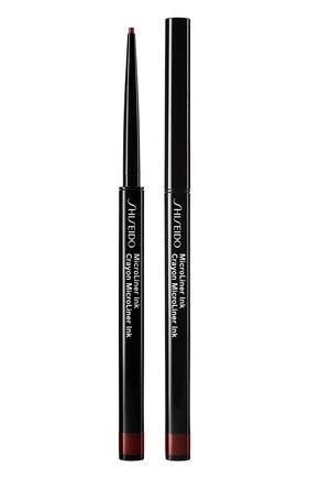 Женские тонкая подводка-карандаш для глаз microliner ink, 03 plum SHISEIDO бесцветного цвета, арт. 14735SH | Фото 1