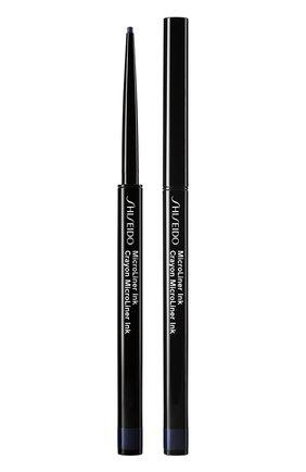 Женские тонкая подводка-карандаш для глаз microliner ink, 04 navy SHISEIDO бесцветного цвета, арт. 14736SH | Фото 1