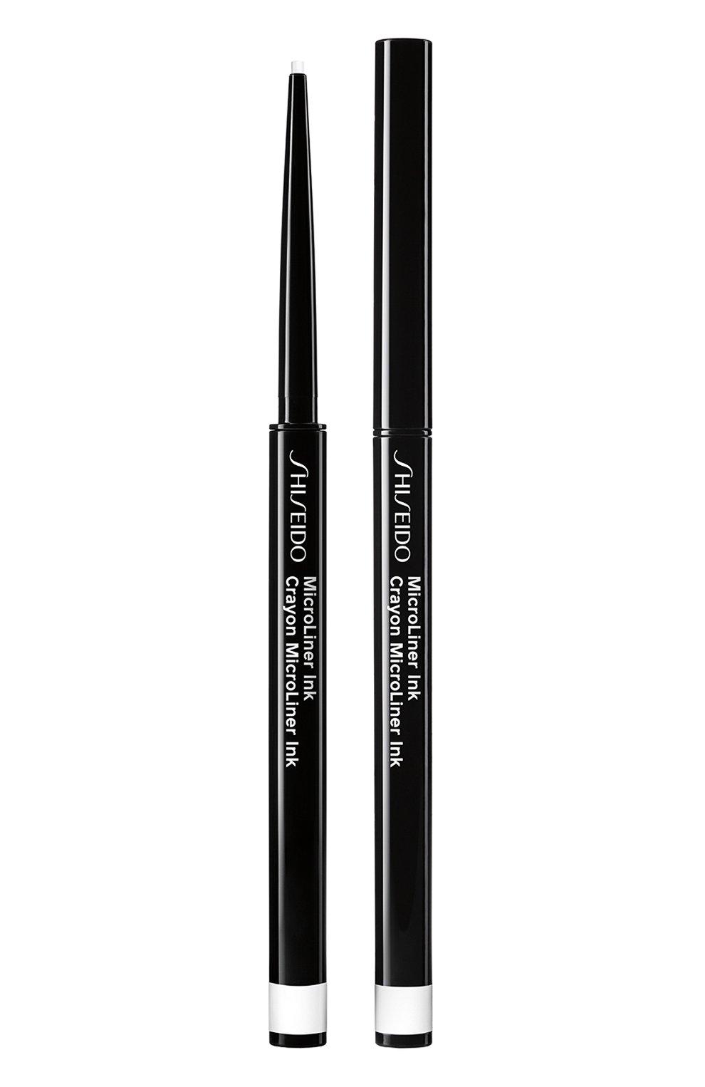Женские тонкая подводка-карандаш для глаз microliner ink, 05 white SHISEIDO бесцветного цвета, арт. 14737SH   Фото 1