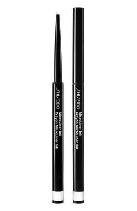 Женские тонкая подводка-карандаш для глаз microliner ink, 05 white SHISEIDO бесцветного цвета, арт. 14737SH | Фото 1