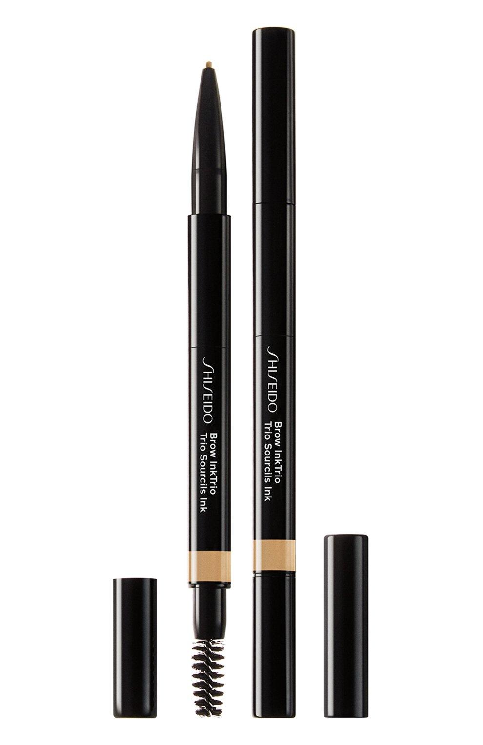 Женский моделирующий карандаш для бровей 3-в-1 inktrio, 01 blonde SHISEIDO бесцветного цвета, арт. 14773SH   Фото 1