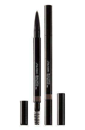 Моделирующий карандаш для бровей 3-в-1 InkTrio, 03 Deep Brown | Фото №1