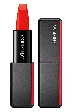 Женская матовая помада для губ modernmatte, 509 flame SHISEIDO бесцветного цвета, арт. 14785SH   Фото 1