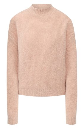 Шерстяной пуловер с воротником-стойкой   Фото №1