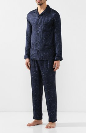 Мужская пижама ERMENEGILDO ZEGNA темно-синего цвета, арт. N6H000630 | Фото 1