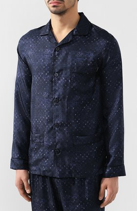 Мужская пижама ERMENEGILDO ZEGNA темно-синего цвета, арт. N6H000630 | Фото 2