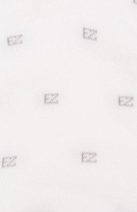 Мужские хлопковые носки  ERMENEGILDO ZEGNA белого цвета, арт. N5V021330 | Фото 2