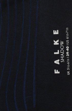 Мужские хлопковые носки shadow FALKE синего цвета, арт. 14648 | Фото 2
