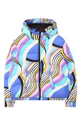 Пуховая куртка на молнии с капюшоном | Фото №1