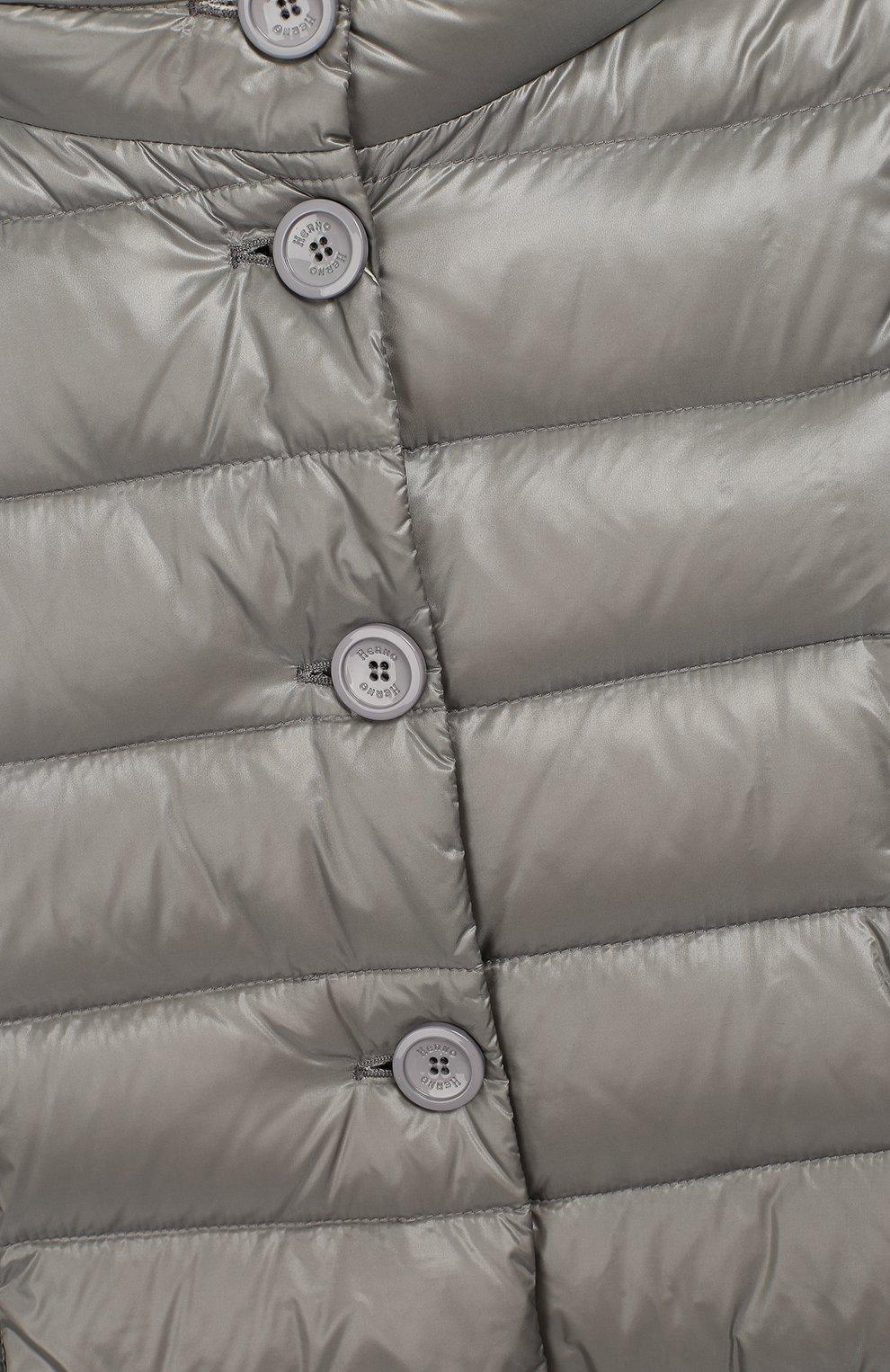 Пуховое пальто с капюшоном   Фото №3