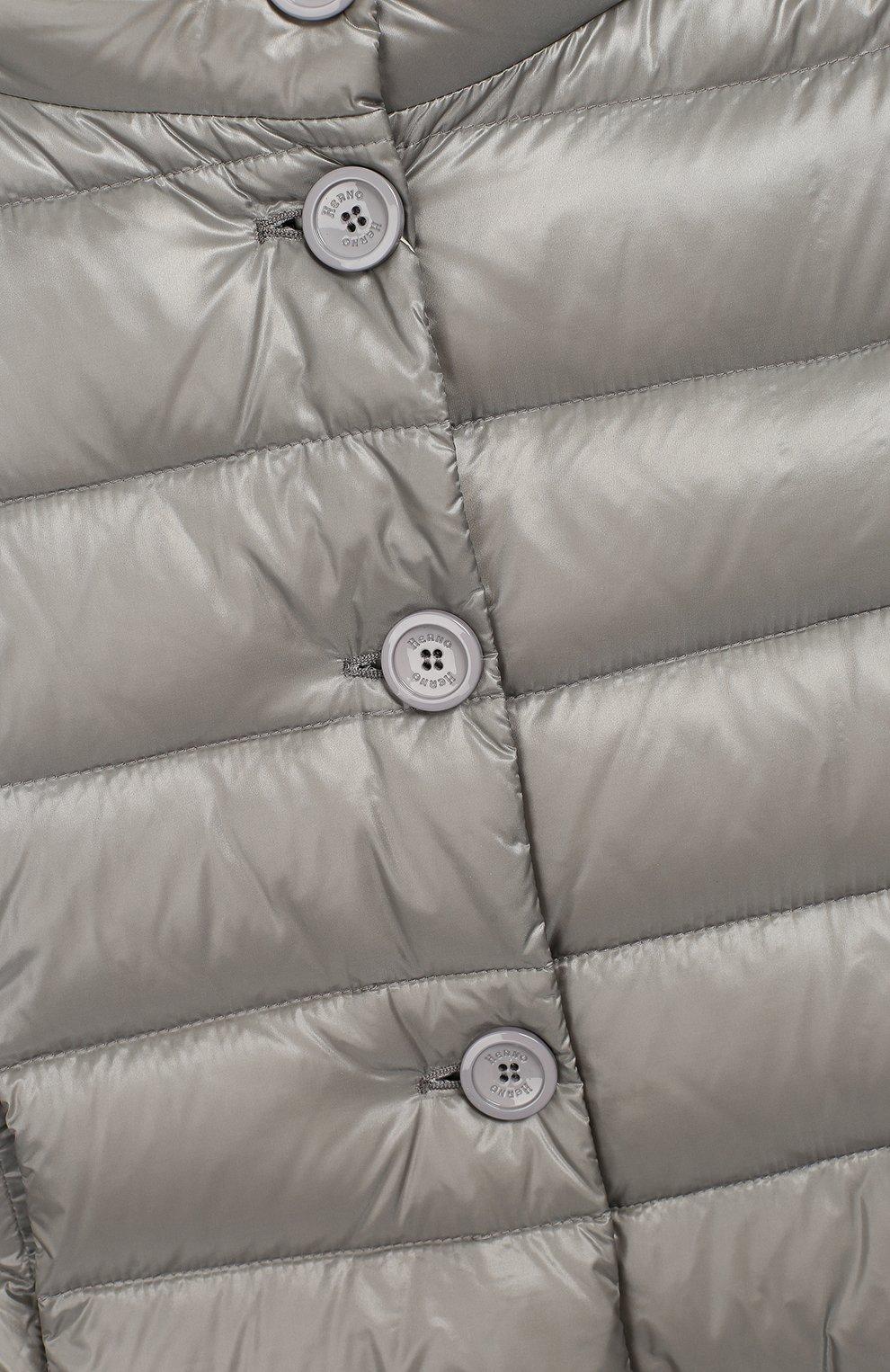 Пуховое пальто с капюшоном | Фото №3