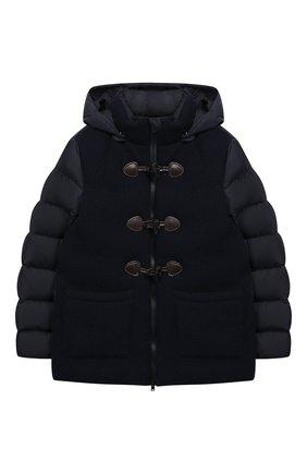 Комбинированная куртка с капюшоном | Фото №1