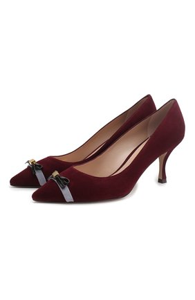 Замшевые туфли Wilhelmina на шпильке | Фото №1