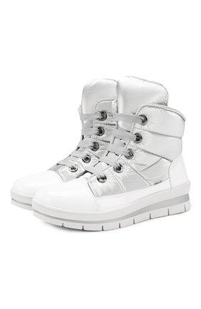 Утепленные ботинки на шнуровке | Фото №1