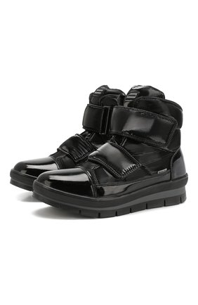 Утепленные ботинки с застежками велькро | Фото №1