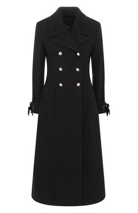 Двубортное пальто с отложным воротником | Фото №1