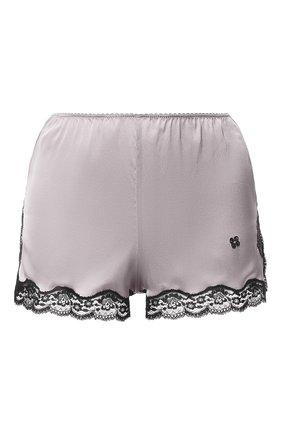Шелковые шорты с кружевной отделкой | Фото №1