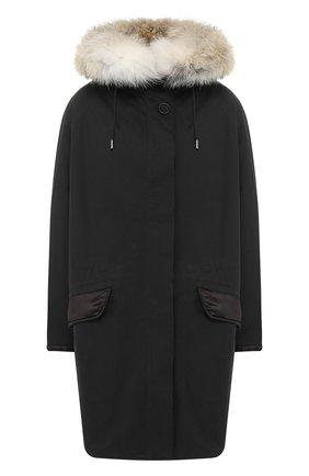 Хлопковая куртка с меховой подкладкой | Фото №1