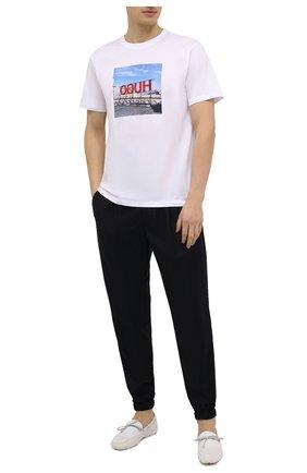 Мужские текстильные мокасины SWIMS белого цвета, арт. 030   Фото 2 (Материал внешний: Текстиль, Резина; Статус проверки: Проверена категория, Проверено; Стили: Кэжуэл)