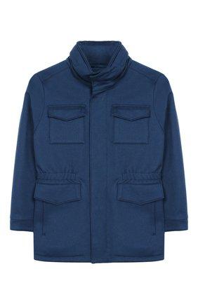 Кашемировое пальто с воротником-стойкой | Фото №1