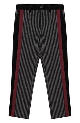 Хлопковые брюки с отделкой | Фото №1