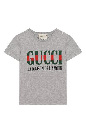 Хлопковая футболка с надписью | Фото №1