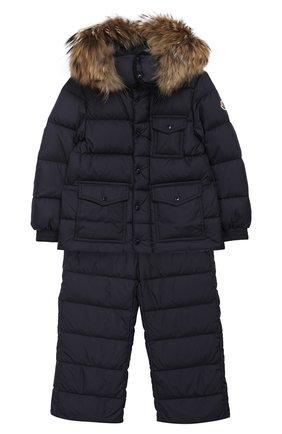 Детский комплект из куртки и комбинезона MONCLER ENFANT синего цвета, арт. D2-954-70331-25-68352/4-6A | Фото 1